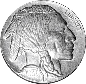 3-Legged Indian Head Buffalo Nickel - Obverse