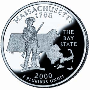 2000 Massachusetts Quarter - Reverse
