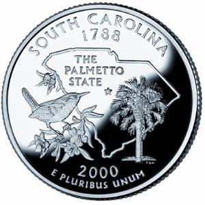 2000 South Carolina Quarter - Reverse