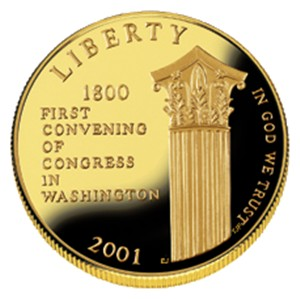 2001 US Capitol Visitor Center Gold Coin - Obverse