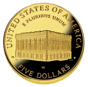 2001 US Capitol Visitor Center  Gold Coin - Reverse