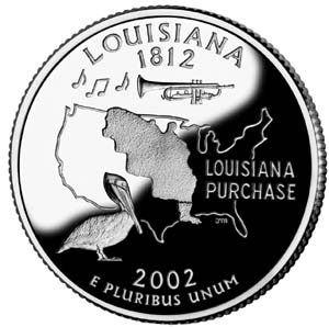 2002 Louisiana Quarter - Reverse