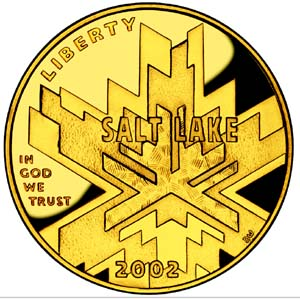 2002 Olympic Winter Games Gold Coin - Obverse