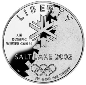 2002 Olympic Winter Games Silver Coin - Obverse