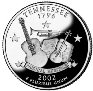 2002 Tennessee  Quarter - Reverse