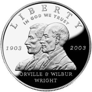 2003 First Flight Centennial Silver Coin - Obverse