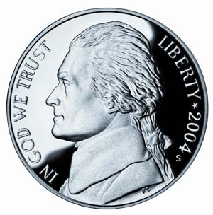 "2004 ""Westward Journey"" Jefferson Nickel - Obverse"