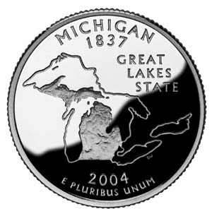 2004 Michigan Quarter - Reverse
