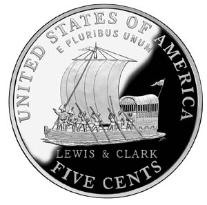 "2004 ""Westward Journey"" Jefferson Nickel - Reverse"