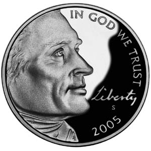 "2005 ""Westward Journey"" Jefferson Nickel - Obverse"