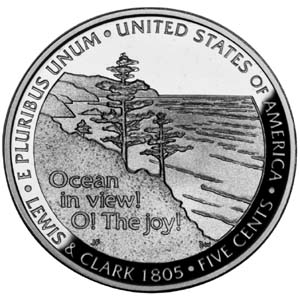 "2005 ""Westward Journey"" Jefferson Nickel - Reverse"