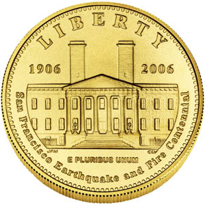 2006 San Francisco Old Mint $5 Gold Coin - Obverse