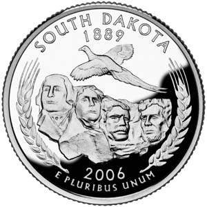 2006 South Dakota Quarter - Reverse