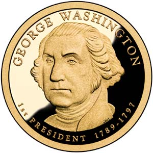 George Washington 2007 Presidential  $1  Dollar