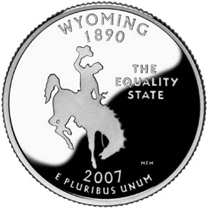 2007 Wyoming State Quarter - Reverse