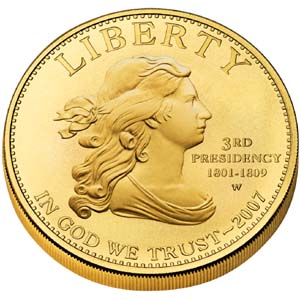 2007 First Spouse Jefferson's Liberty - Obverse