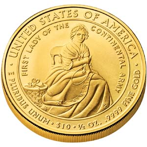 2007 First Spouse Martha Washington - Reverse