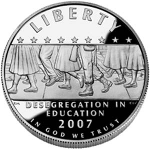 2007 Little Rock Central High Desegregation Silver Dollar - Obverse