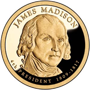 James Madison 2007 Presidential  $1  Dollar