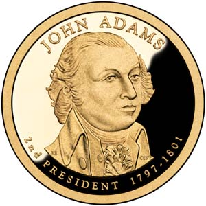 John Adams 2007 Presidential  $1  Dollar
