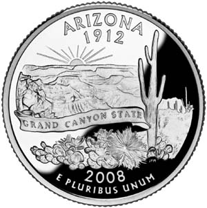2008 Arizona Quarter - Reverse