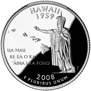 2008 Hawaii Quarter - Reverse