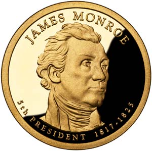 James Monroe 2008 Presidential  $1  Dollar
