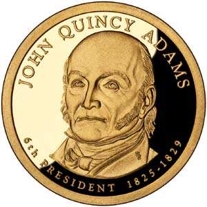 John Quincy Adams 2008 Presidential  $1  Dollar
