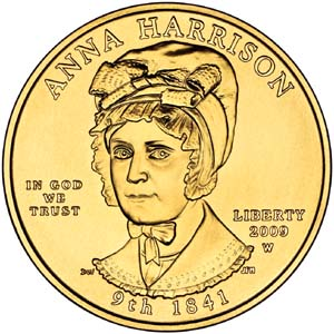 2009 First Spouse Anna Harrison - Obverse