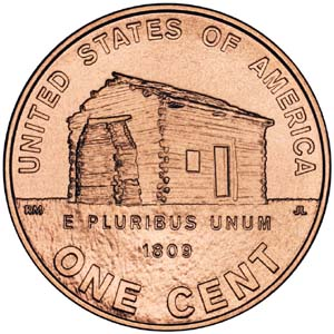 2009 Lincoln Bicentennial One Cent - Reverse 1