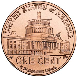 2009 Lincoln Bicentennial One Cent - Reverse 4