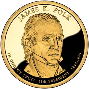 James K. Polk 2009 Presidential  $1  Dollar