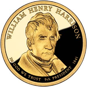 William Henry Harrison 2009 Presidential  $1  Dollar