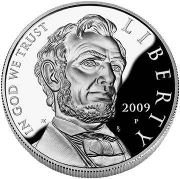 Abraham Lincoln Commemorative Silver Dollar - Obverse